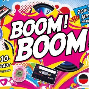 BOOM BOOM – die Mega 90er und 2000er Party am 24.10.2020